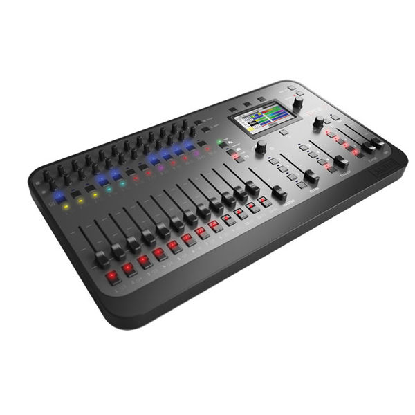 The Stage CL is an easy to use lighting console that offers simple, consistent control of LEDs or dimmers. Up to 24 fixtures or groups can be accessed through the physical