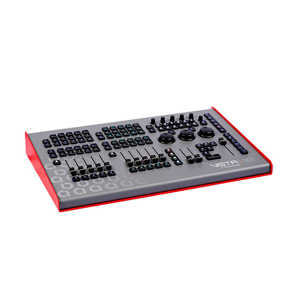 The Vista by Chroma-Q EX Control Surface, provides large amounts of physical control within a compact footprint, capable of delivering small to large scale shows.