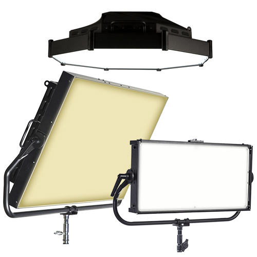 The award-winning Chroma-Q® Space Force™ variable white LED space / soft light family is a bright, high quality, modern replacement for conventional sources used in  film and TV studios, live broadcast, vlog, and photographic applications.